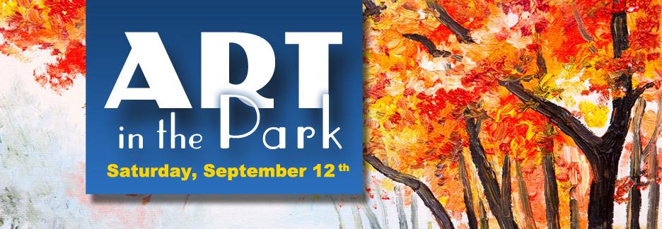 Art in the Park Website Slide