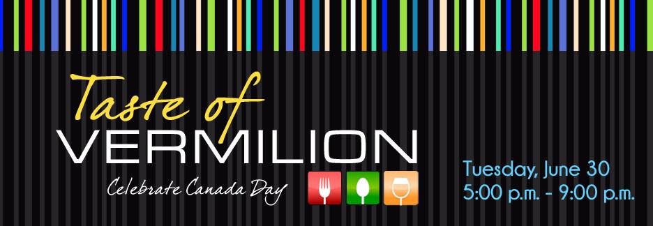 Taste of Vermilion Website Slide
